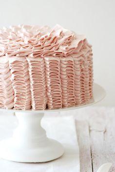 lemon-raspberry ruffle cake #blush