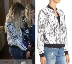 """Pretty Little Liars: Season 7 Episode 12 Hanna's Marble Print Jacket 