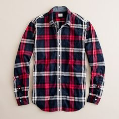 J. Crew Secret Wash button-down shirt in Boyle tartan $70