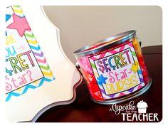A Cupcake for the Teacher: Secret Star {Freebie}