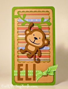 Eli Monkey Card with Cricut Create a Critter