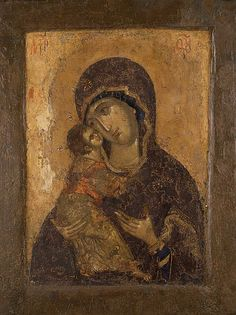 Christian Religions, Christian Symbols, Byzantine Icons, Byzantine Art, Religious Icons, Religious Art, Madonna, Andrei Rublev, Fresco