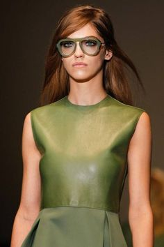 I must say I like the glasses at Gucci Fall 2014 RTW ##mfw ~