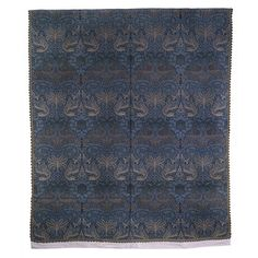 This woven furnishing textile was made for use as heavyweight curtains or a wall covering. William Morris's increasing interest in historical woven textiles can be detected in his woven designs of the late 1870s and 1880s. This textile was clearly influenced by a visit to Vincent Robinson's shop in London in the same year it was designed.
