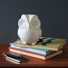 Owl iPhone speaker. West Elm. I want!
