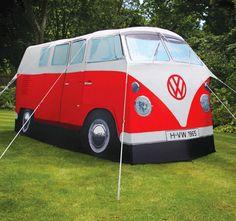 Retro VW Volkswagon Bus Waterproof Tent 4 Man camper 2 Room Tent 1965 Replica | eBay