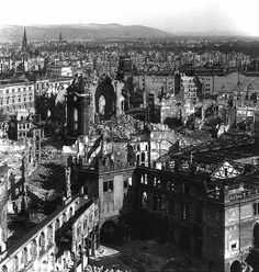 Dresden after World War II Dresden Bombing, Ruined City, Weapon Of Mass Destruction, Historical Pictures, World History, World War Two, Wwii, Paris Skyline, Germany