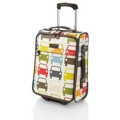 orla kiely suitcase: too cute!