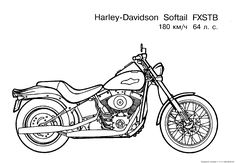 Harley-Davidson Coloring Pages to Print | Free Motorcycle coloring page, letscoloringpages.com, Harley Davidson...