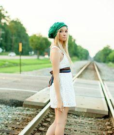 Green Hat Crochet Hat for Women Teen Hat Fall by foreverandrea,