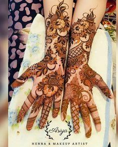 Khafif Mehndi Design, Floral Henna Designs, Back Hand Mehndi Designs, Latest Bridal Mehndi Designs, Stylish Mehndi Designs, Full Hand Mehndi Designs, Mehndi Designs Book, Mehndi Designs For Girls, Mehndi Designs For Beginners