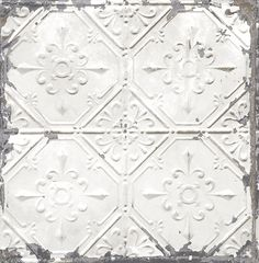 Product Description Tin Ceiling White Distressed Tiles 2701-22305 Wallpaper-Tin Ceiling White Distressed Tiles Wallpaper is a superior-quality, distressed wallpaper that gives your home a bright and