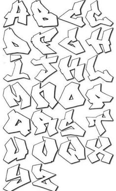 graffiti alphabet bubble letters coloring pages printable and coloring book to print for free. Find more coloring pages online for kids and adults of graffiti alphabet bubble letters coloring pages to print. Graffiti Alphabet Styles, Graffiti Lettering Alphabet, Graffiti Styles, Hand Lettering, Typography, Wie Zeichnet Man Graffiti, Street Art Graffiti, Alfabeto Graffiti, Style Alphabet