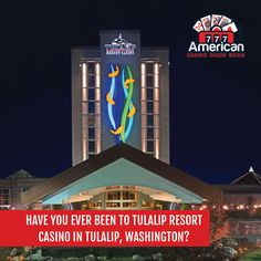 Have you ever been to Tulalip Resort Casino in Tulalip, Washington? The AAA Diamond-rated resort casino offers the most cash back out of any Washington state casino, world-class shopping, & a luxurious spa experience. Visit our website at www.americancasinoguidebook.com/washington/tulalip-casino.html for more information! . . . #casino #gambling #poker #bettingexpert #onlinecasino #casinoguide #travelwithACGB #americancasinoguidebook