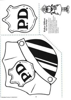 police badge template for preschool - policeman fireman doctor nurse etc pictures to color
