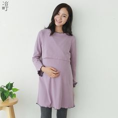 92742b75c59 China wholesale guangdong factory formal cotton dresses for pregnant women.  Yoon Haemi · Maternity Fashion