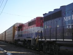 diesel engines and freight cars in Palmer, MA