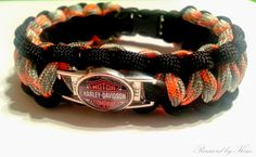 Custom Harley Davidson Motorcycles Paracord Charm Bracelet