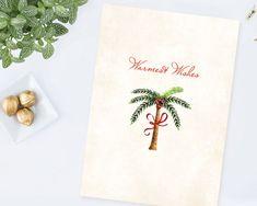 DIY Printable Palm Tree Christmas Card  A Lovely by VGInvites