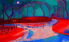 Jan Sluyters vai the Athenaeum - Full moon on the water (1912)