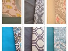 Do you need a valance? I have put together these fabrics that would make a great scalloped valance.