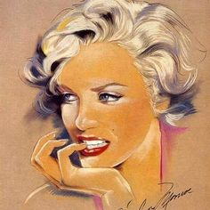 - Artist Unknown Marilyn drawing / This image first pinned to Marilyn Monroe art board here: http://pinterest.com/fairbanksgrafix/marilyn-monroe-art/ #Art #MarilynMonroe