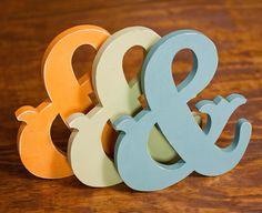 wooden ampersands