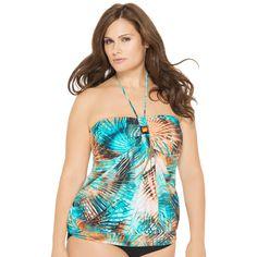 981852fb7c Jungle Tour Plus Size Tankini Baudeau Blouson Swimsuit Top Junior Plus Size  Swimwear