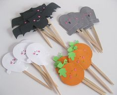 Halloween Cupcake Toppers  Cuties by SweetSambolina on Etsy, $9.50