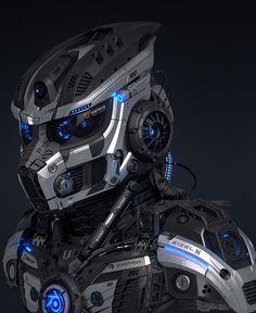 Ha know this would make a killer darth Vader helmet Darth Vader Helm, Vader Helmet, Futuristic Helmet, Futuristic Armour, Robot Design, Helmet Design, Armadura Cosplay, Airsoft Mask, Arte Robot