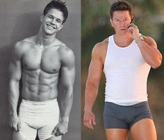 Mark Wahlberg, then and now. Yes I put this under Yummies I'd Like to Try for a reason :) sorry Tombo.