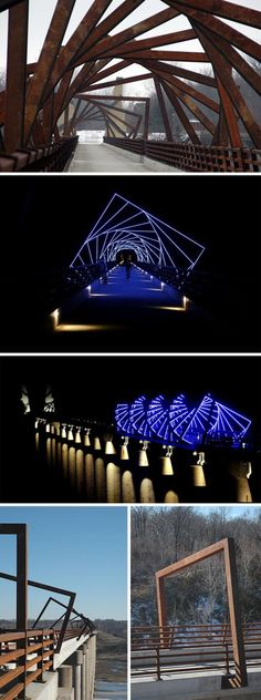 High Trestle Trail Bridge, Boone County, Iowa. RDG Dahlquist Art Studio in Des Moines, Iowa, David Dahlquist