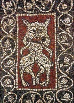 Mosaïque de Ganagobie datant du 12ème siècle. Byzantine Art, Byzantine Mosaics, Mosaic Art, Mosaic Tiles, Medieval Art, Romanesque, Fresco, Bohemian Rug, Art Projects