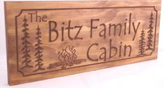 Personalized Cabin Signs Rustic Family Last by BenchmarkSignsGifts