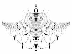 love this for the bottom part of a sternum tattoo