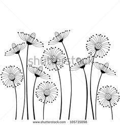 Meadow Flowers On White Background Lager vektorillustration 105735098 : Shutterstock