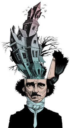Image discovered by . Find images and videos about arte, ilustracao and edgar allan poe on We Heart It - the app to get lost in what you love. Edgar Allan Poe, Johnny Depp, Allen Poe, Horror, Illustration Art, Artsy, Poster, Art Prints, Fine Art