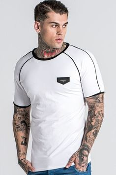 CLICK TO BUY - GIANNI KAVANAGH TRIMS TEE – WHITE & BLACK