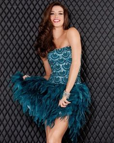 Shop for Jovani homecoming dresses online with secure payment and fast checkout through our official Jovani retailer store. Great Gatsby Dresses, Great Gatsby Fashion, Cute Dresses, Beautiful Dresses, Short Dresses, Party Dresses, Peacock Dress, Feather Dress, Peacock Costume