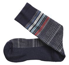 Wool-Blend Mini-Stripe Socks - Johnston