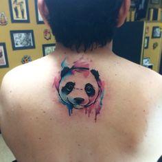 Panda acuarela Angy Esteban tattooer
