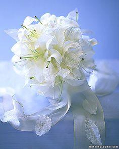 'Casablanca' lilies make a delicate wintry bouquet