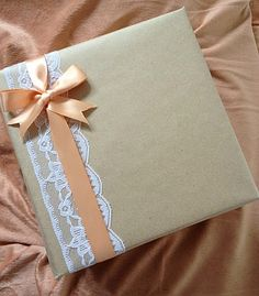 Simple Gift Wrap - Brown Wrapping Paper Ideas