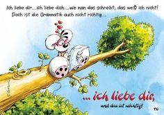 Liebes-Grammatik   Diddl   Echte Postkarten online versenden   Diddl