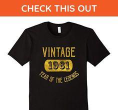Mens 1961 Legend 56 years old B-day 56th Birthday Gift T-Shirt Small Black - Birthday shirts (*Amazon Partner-Link)
