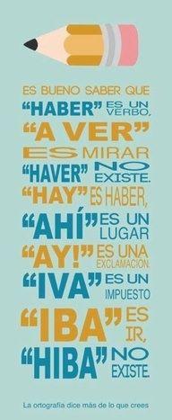 #Spanish writing skills: Spanish words with H. La H. #escribir en español