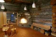 World's Largest Smoke Sauna at Hotel Kakslauttanen, Finland. The Finns consider the sauna experience very sacred. Beautiful Interior Design, Beautiful Interiors, Igloo Village, Sauna Design, Best Spa, Types Of Rooms, Steam Room, Cabins In The Woods, Bath Decor