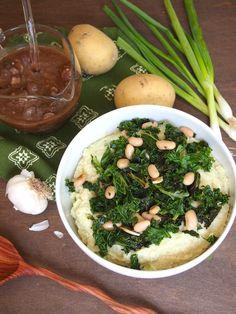 Cheesy Vegan Cauliflower Mash Bowls
