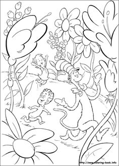 seuss printable coloring pages - Dr Seuss Coloring Pages