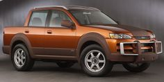 http://chicerman.com  carsthatnevermadeit:  Isuzu Axiom XST Concept 2002. A crew-cab pick-up based on the Axiom SUV  #cars